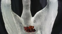 Eisfigur - Schwan mit Schale