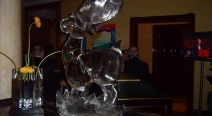 Rentier Eisfigur